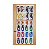 Cacys-Store - 24 Pockets Over Door Hanging Bag Shoes Organizer Hanger Transparent PVC Storage Bag Tidy Storage Box Hanging Bags
