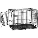 AmazonBasics Single-Door Folding Metal Dog Crate, 30-inches