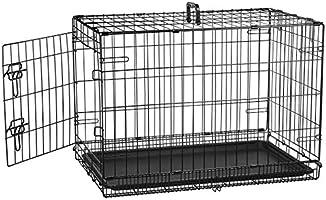 AmazonBasics Jaula plegable para perros, puerta sencilla, 76 cm
