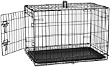 AmazonBasics Single Door Folding Metal Cage Crate For Dog or Puppy - 30 x 19 x 21 Inches