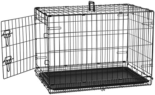 (AmazonBasics Single Door Folding Metal Cage Crate For Dog or Puppy - 30 x 19 x 21)