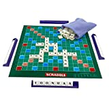 Swordplus Family Scrabble Edition Board game,Classic Crossword Game, Travel Scrabble Game,Family Puzzle Letter Word Gift for Kids adult,Educational Toy