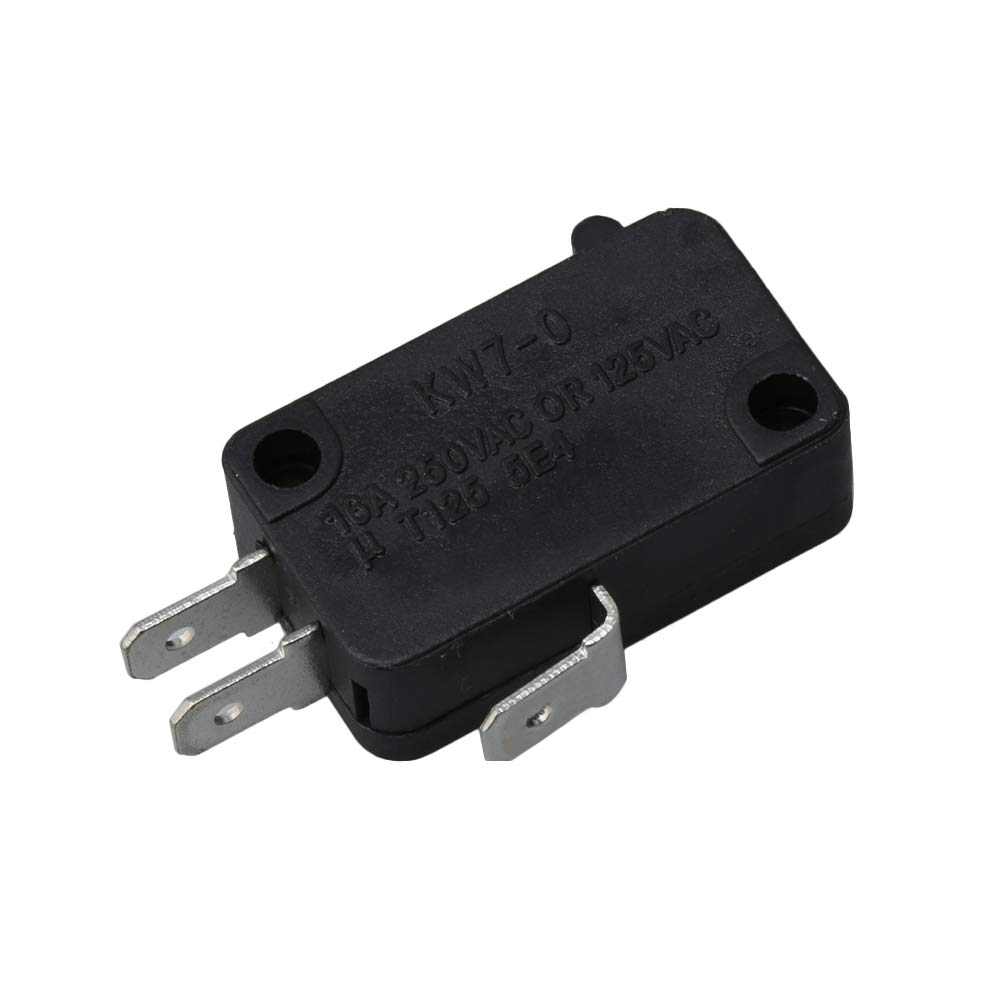 Mxfans 28QBP0495 Black Microwave Oven Door Micro Switch for Most Whirlpool
