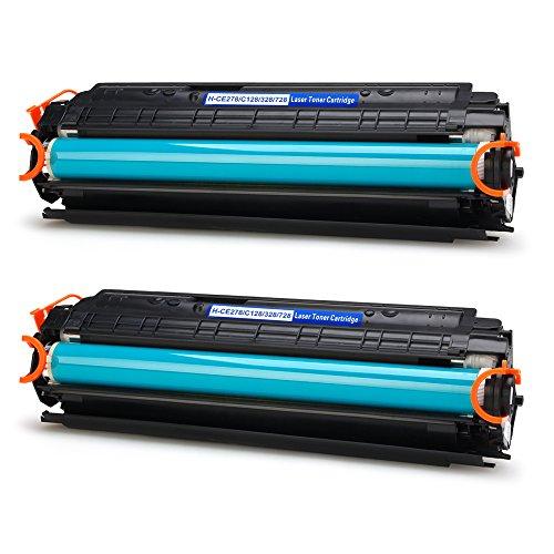 IKONG 2-BLACK Compatible Toner Cartridge for Canon 128 & 78A work with LaserJet Pro P1606dn M1536dnf, Canon ImageClass D530 MF4770n MF4880dw MF4890dw MF4570dw D550,Canon FaxPhone L190 L100