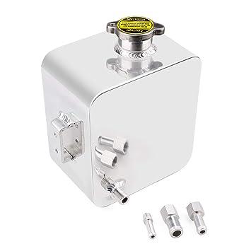 CNSPEED - Kit de depósito de depósito de agua de 2 litros de aleación pulida para depósito de agua y depósito de agua: Amazon.es: Coche y moto