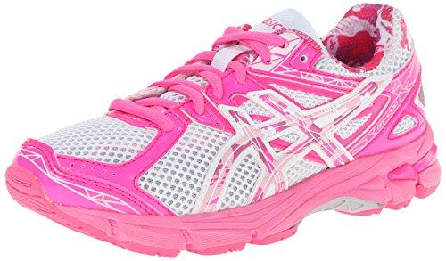 ASICS GT 1000 3 GS PR Running Shoe,White/Hot Pink/Pink Ribbon,5.5 M US Big Kid