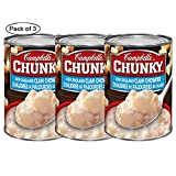 Chunky New England Clam Chowder Soup, 540Ml (Pack of 3) by Campbell's