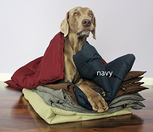 Swift Home® Pet Comforter, Dogs and Cats Blanket and Throw, Perfect for Home, Car, Pet Bed, Crate Pad, in a Pet Carrier, and More. Soft, Lightweight Warmth, Durable, and Washable - Navy, L/XL