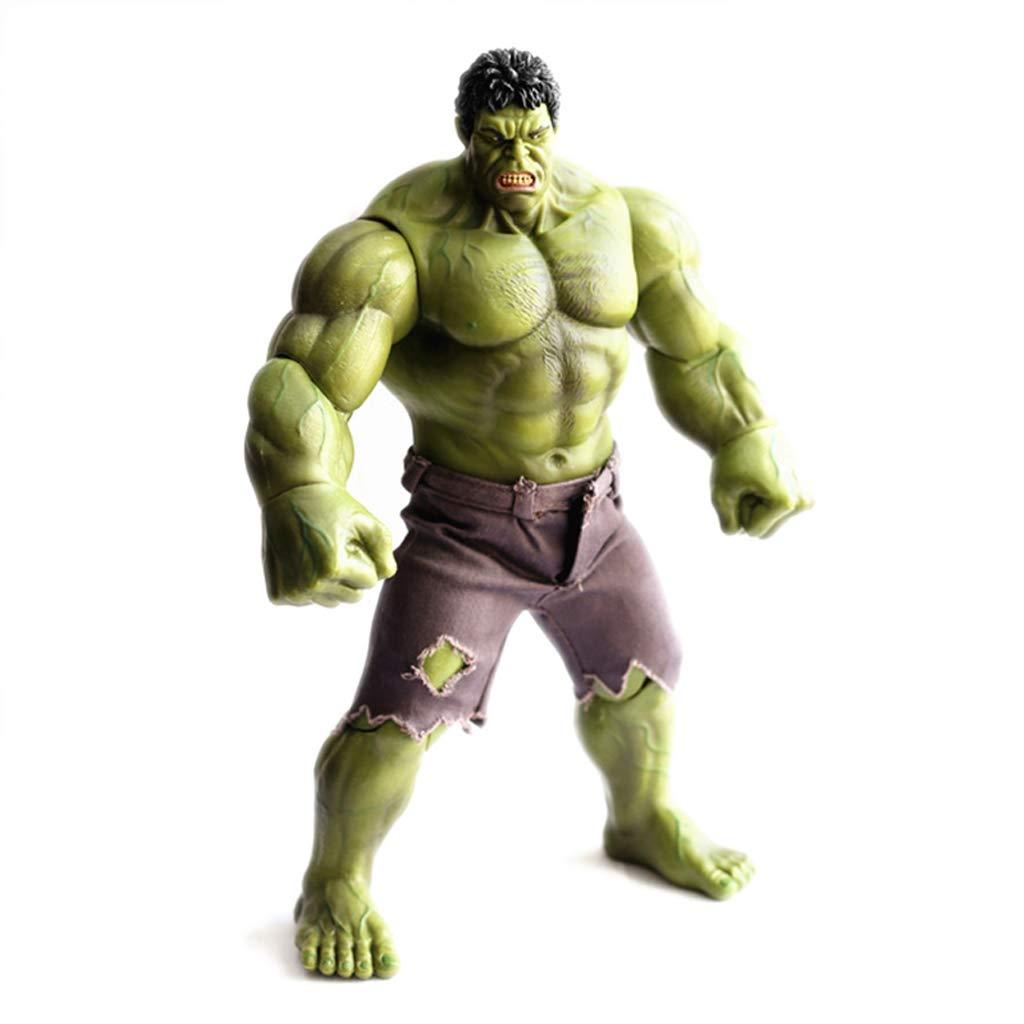 FLYSXP Giunzioni di Statua Animata di vendicapienti Regalo Creativo di Decorazione del Regalo della Decorazione di Oscillazione del Tessuto verde Modello Squisito 26cm dell'uomo del Giocattolo Statua