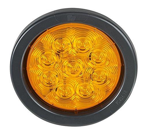 Federal Signal 607123-02SB SignalTech Amber 4'' Round LED Light (Random Flashing Light Kit)