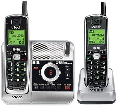 V-Tech CS5121 – 2 5.8 GHz dos Teléfono inalámbrico sistema de respuesta con ID de llamadas (plata/negro): Amazon.es: Electrónica