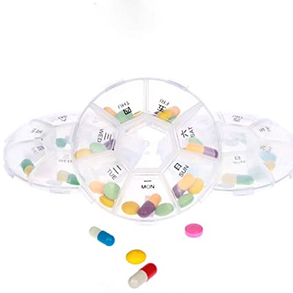 RONGXIN Pastillero portátil, recordatorio de medicamentos recetados y dispensador de Pastillas de Viaje Regalos de