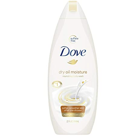 Dove Nourshing Body Wash, Dry Oil Moisture 22 oz Pack of 4