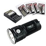 ThruNite® TN36 LED Flashlight Black Powered by 4*18650 Batterie