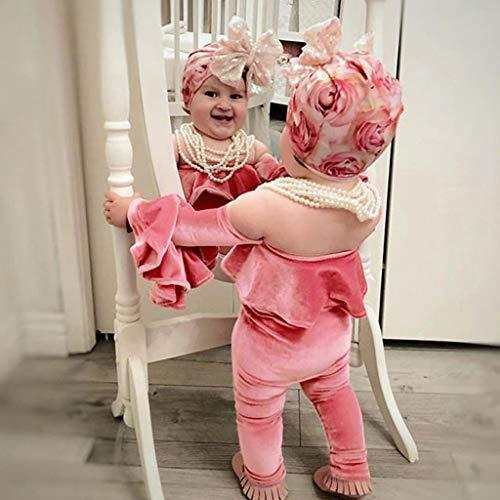 Une Trompette De Bande Fille Rose Ensembles Épaule Côtelé Cheveux Bebe Tenues Velours lanskirt En Pour Combinaison Manche wO6vAqPO