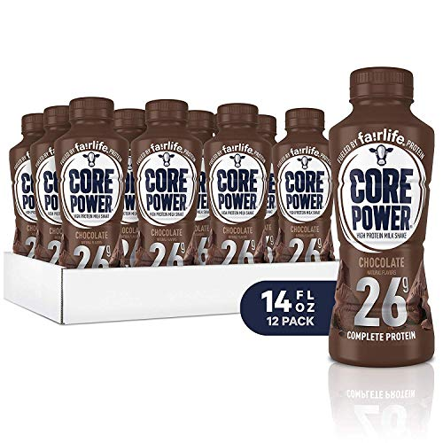 Core Power by Fairlife High Protein, 26g Protein, Milk Shake, 14 oz (Pack of 12) (Chocolate)