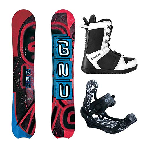 System Package-GNU Hyak Snowboard 163 cm Wide APX Bindings 2019 APX Boots 13 (Best Freestyle Bindings 2019)