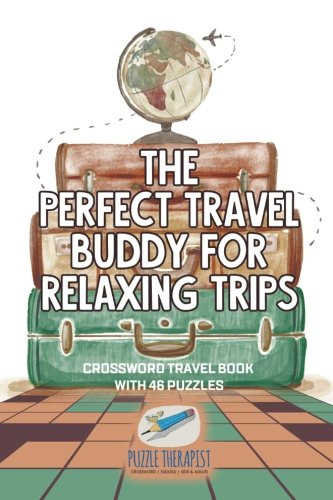 The Perfect Travel Buddy For Relaxing Trips   Crossword Travel Book With 46 Puzzles