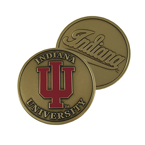 Indiana University Brass Challenge Coin IUCN401 IMC-Retail (Silver Old Ancient Coins)