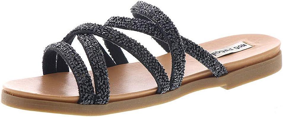 Not Rated Womens Very Bushey Slide Sandal
