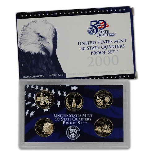 2000 S US Mint Quarters Proof Set Original Government (2000 Proof Set)