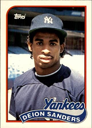 Amazon 1989 Topps Traded Baseball Rookie Card 110T Deion Sanders Mint Collectibles Fine Art
