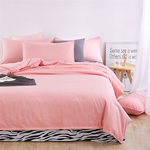 Monogram Collection Ring Pillow (COMFORTEX Duvet Cover Set With Aditional Flat Sheet 4-Piece Queen Size Soft Comfortable Solid Color and Zebra Lightweight Bedding set 1 Duvet Cover, 1 Flat Sheet, 2 Pillowcases (Jade+Zebra))