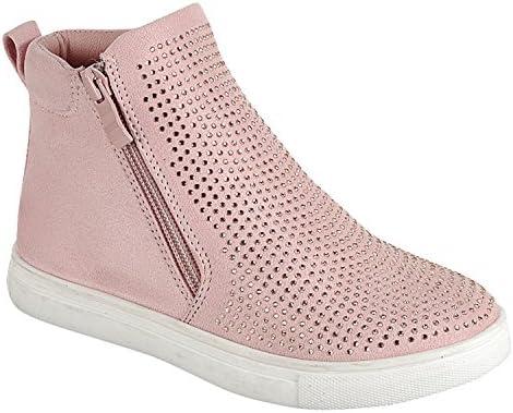 63bc2261039 TravelNut Sale High Top Metallic Glittery Bootie Sneaker Easter Basket Gift  Idea For Little Girls (