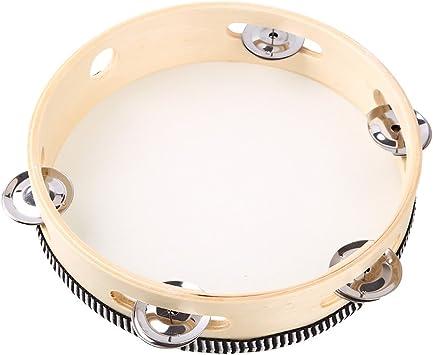Tamburin 4 Paar Edelstahl Jingle Hand Percussion für Trommel