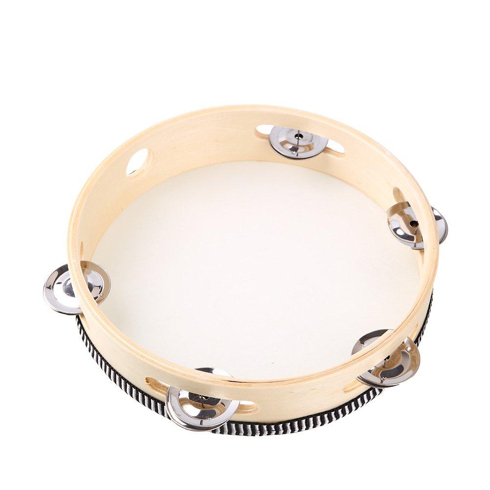 Cewaal 8 pollici 20cm Tamburo rotondo di tamburello Giocattolo regalo per percussioni per bambini
