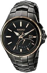 Seiko Men's SRN066 Coutura Kinetic Retrograde Analog Display Japanese Quartz Black Watch