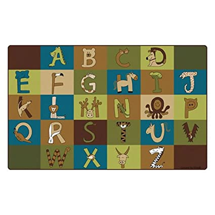 Carpets for Kids 55762 A to Z Animals Nature Rug