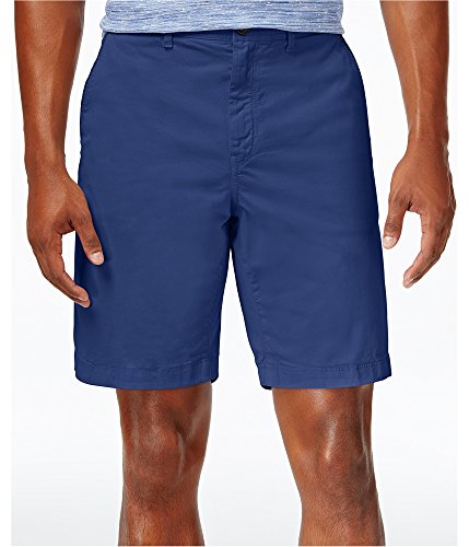Michael Kors Mens Spring Stretch Casual Chino Shorts, Blue, 40