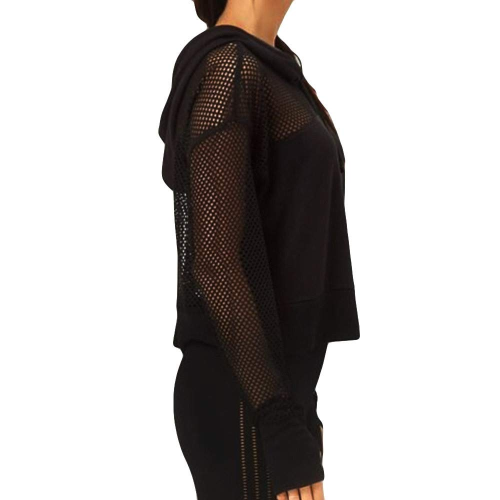 ❤ Camiseta con Capucha para Mujer, Blusa Hueca de Manga Larga con Mangas largas Absolute: Amazon.es: Ropa y accesorios