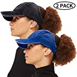 ZOORON Backless Ponytail Hat for Women, Curl Cap Natural Curly Hair Hat Baseball