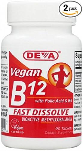 Deva Vegan Vitamin B-12 Fast Dissolve Lozenges