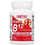 Deva Vegan Vitamin B-12 Fast Dissolve Lozenges 90 Tablets (2 Pack)