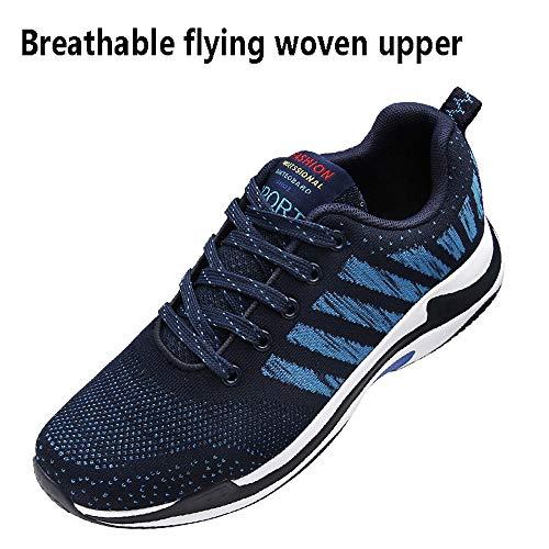 blue Desodorante Hombres Resistente Al Red Tejidos Zapatos Antideslizante Plantillas Running Los Volando Transpirable 43 Aire Deportes Running Libre De Desgaste Zapatillas Malla wCqtOxq8H