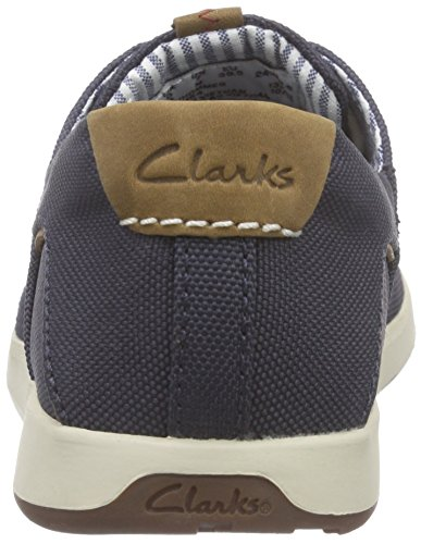 Clarks Norwin Go - Zapatos de cordones oxford Hombre Azul (Navy Synthetic)
