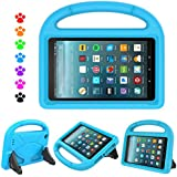 F i r e 7 2017 Tablet Kids Case - Natple Light Weight Shock Proof Handle Kids Friendly Stand Protective Cover Case A m a z o n F i r e 7 Tablet(5th Gen, 2015 / 7th Gen, 2017) (Blue)