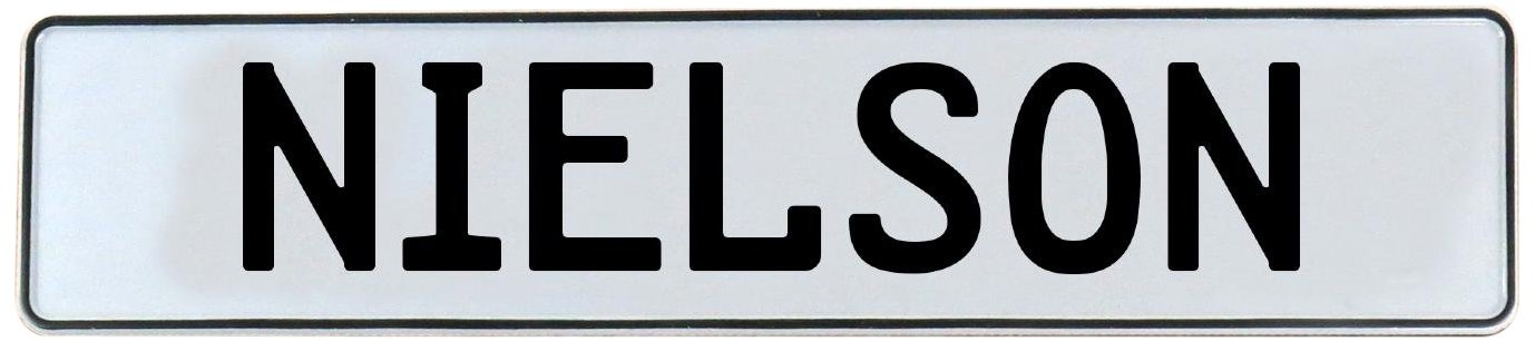 Nielson White Stamped Aluminum Street Sign Mancave Vintage Parts 716574 Wall Art