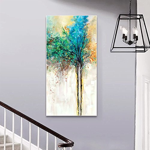 canvas wall art Green Tree Woods Canvas Print Paintings for Wall and Home Decoration