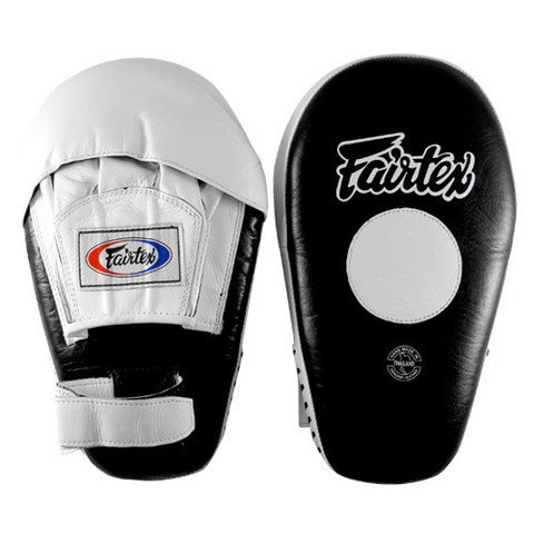 Fairtex Pro Angular Mitts, Black/White by Ringside