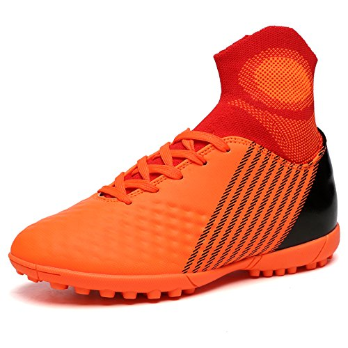 Xing Lin Chaussures De Football Aide Haute Chaussures De Football Fly Tube Chaussettes Hommes Et Femmes Chaussures De Football Chaussures De Football Adultes Enfants 44 Yards, 31, Orange