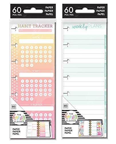 me & My Big Ideas Create 365 Mini Half Sheet Weekly Notes & Mini Half Sheet Habit Tracker (FILM-22 & FILM-28 Set of 2)