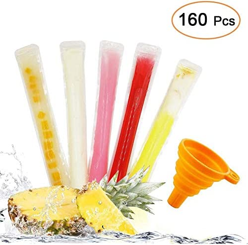 """160 Disposable Ice Popsicle Mold Bags