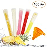 160 Disposable Ice Popsicle Mold Bags| BPA Free