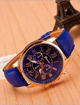 VERNESS cinturón de aleación de ginebra ginebra falsos tres ojos de los relojes de moda masculina , 5#: Amazon.es: Deportes y aire libre