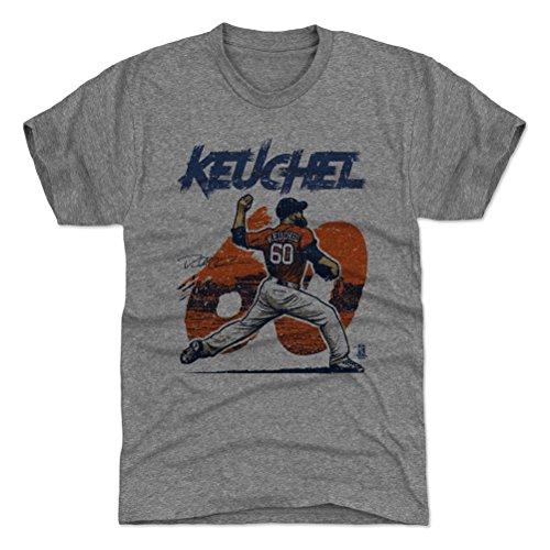 500 LEVEL Dallas Keuchel Triblend Shirt XXX-Large Tri Gray - Houston Baseball Men's Apparel - Dallas Keuchel Rough O