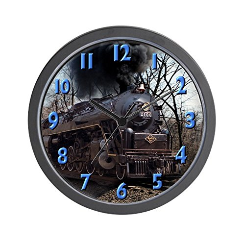 CafePress – Old Steam Engine – Unique Decorative 10″ Wall Clock